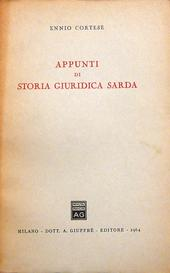 Appunti di storia giuridica sarda.