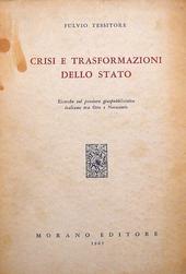 Crisi e trasformazione dello Stato. Ricerche sul pensie