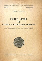 Scritti Minori di Storia e Storia del Diritto.