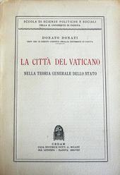 La Città del Vaticano nella teoria generale dello Stato