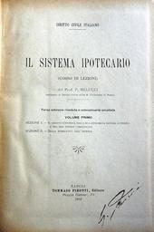 Il sistema ipotecario (corso di lezioni) IIIa ed.