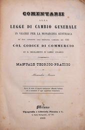 Brasca. Commentarii alla legge di Cambio Austriaca.