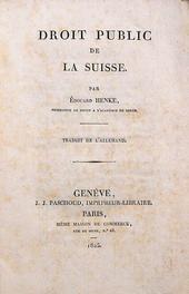 Il Diritto Pubblico svizzero di Henke tradotto da Massè