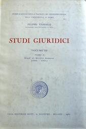 Studi Giuridici. Tomo I: studi di dir. romano 1906-1921