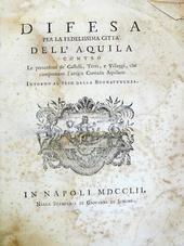 2 opere sulla storia antica della città dell'Aquila.