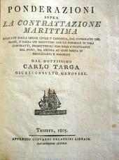 Le Ponderazioni di Targa in una rara edizione triestina