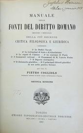 Manuale delle Fonti del Diritto Romano.