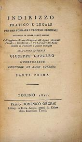 Una guida per il Processo Criminale in Piemonte nel 800