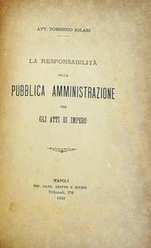 Solari. 3 opuscoli di diritto amministrativo