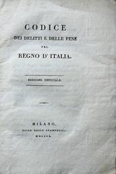 Napoleone. Codice dei Delitti e delle Pene 1a ed. ital.