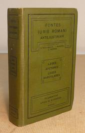 Fontes Juris Romani Antejustiniani. 1a edizione - 1909