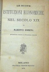 Le nuove istituzioni economiche nel secolo XIX.