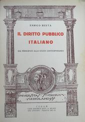 Diritto pubblico italiano dai principati allo stato con