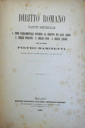 Diritto Romano. Parte Generale. Idee fondamentali