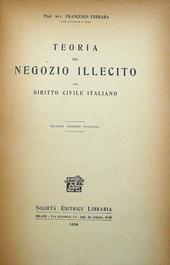 Teoria del negozio illecito nel diritto civlie italiano