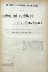 Riforme delle Istituzioni pubbliche di Beneficenza.