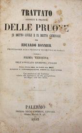 Trattato teorico e pratico delle pruove in civ. e crim.