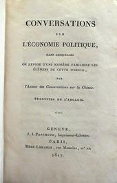 Marcet. Conversations sur l'Economie Politique - 1817