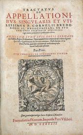 Il Tractatus de Appellationibus dell'olandese Brederode