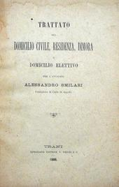 Trattato sul Domicilio Civile, Residenza, Dimora, domic