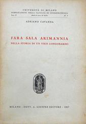 Fara Sala Arimannia nella storia di un vico longobardo.