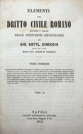 Il commento di Eineccio alle Istituzioni di Giustiniano