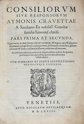 I primi 326i Consilia di Cravetta più Resp. pro Genero