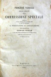 Processi Verbali delle sedute della Commissione Special