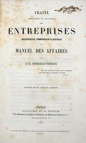 Courcelle Seneuil. Traite des Entreprises industrielle