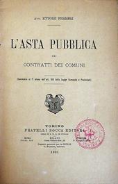 L'Asta pubblica nei contratti dei comuni.