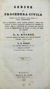 Rogron. Codice di Proc. Civile spiegato dai suoi motivi