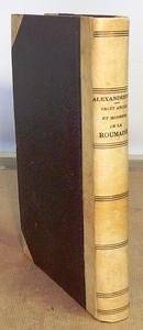 Droit ancien et moderne de le Roumanie. Etude de legisl