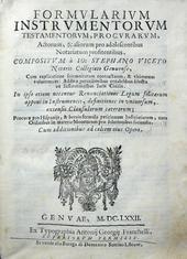 Formularium Instrumentorum testamentorum, procurarum.