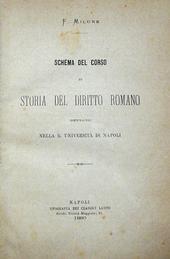 Schema del corso di Storia del Diritto Romano