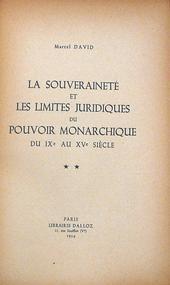 La souverainetè et les limites Juridiques du pouvoir mo