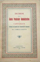Decisioni della Giunta Provinciale Amm. di Capitanata