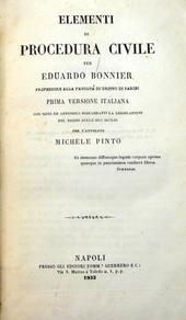 Elementi di Procedura Civile, con confronto Due Sicilie