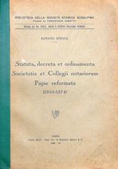 Statuta, Decreta et ordinamenta Societatis et Collegii