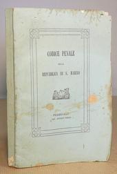 Il raro Codice Penale della Repubblica di San Marino.