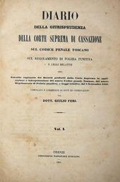 Giurisprudenza di Cassazione sul Codice Penale Toscano.