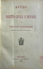 Studi di diritto civile e penale.