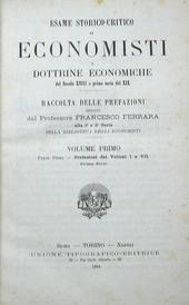 Esame storico critico di Economisti e dottrine economic