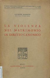La violenza nel matrimonio in diritto canonico.