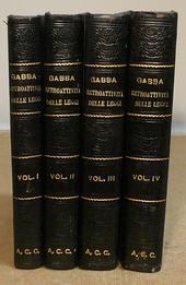 Gabba. Teoria della retroattività delle leggi. IIIa ed.