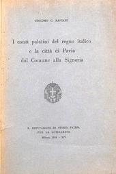 I conti palatini del regno italico e la città di Pavia