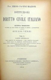 Istituzioni di diritto civile italiano a cura di Venzi.