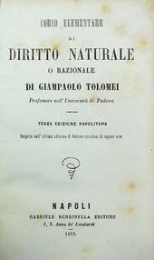 Corso Elementare di Diritto Naturale o Razionale 3a ed.