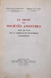 Le Droit des Societès Anoymes dans les pays de la comm.