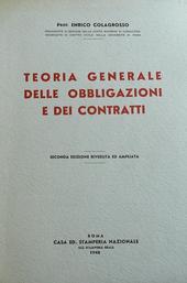 Teoria Generale delle Obbligazioni e dei Contratti.