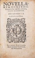 Il commento alle Novelle di Cujas in una ed. tascabile
